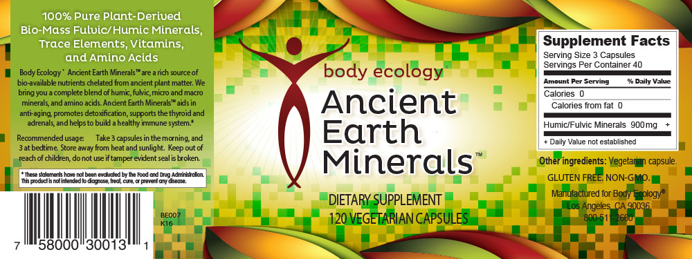 Ancient Earth Minerals Nutritional Information