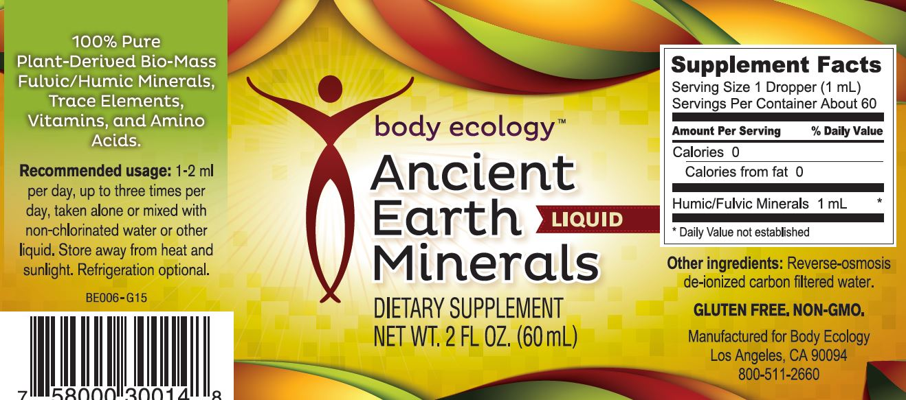 Ancient Earth Minerals Liquid Nutritional Information