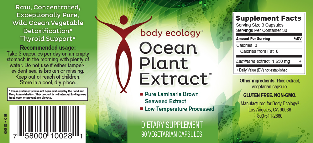 Ocean Plant Extract Nutritional Information