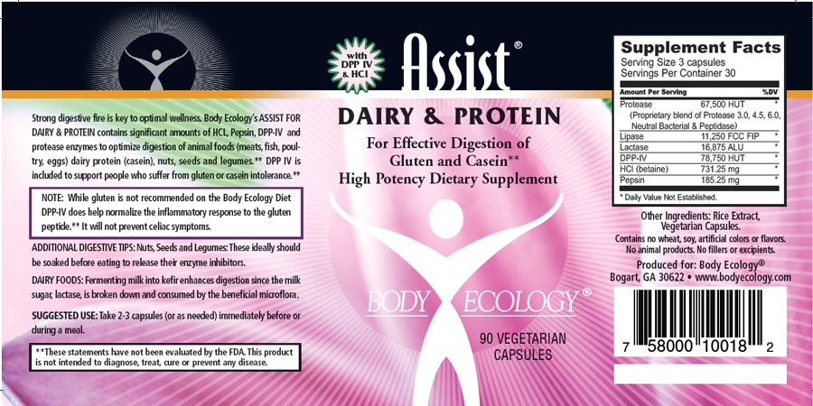 Assist Dairy & Protein Nutritional Information