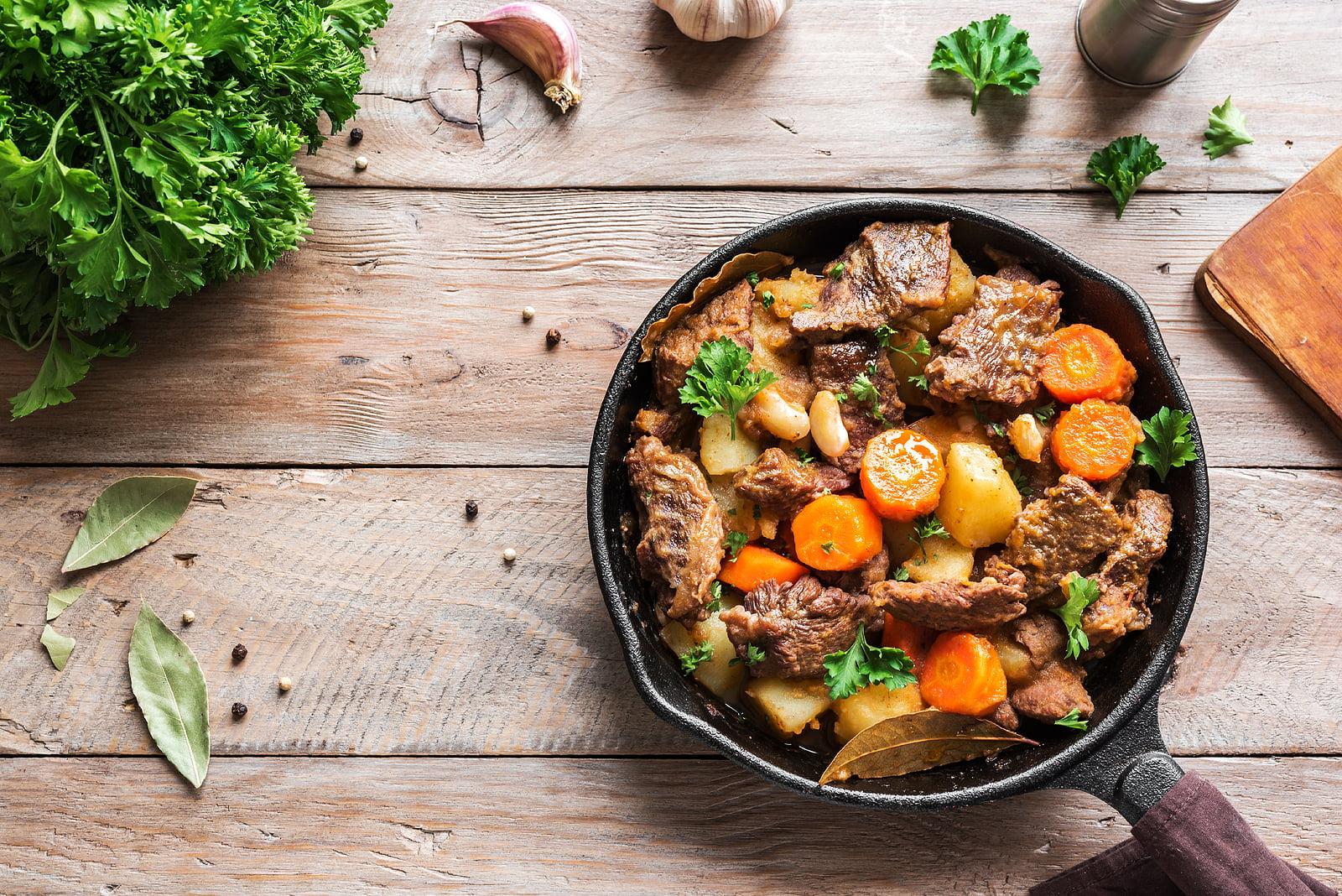 A healthy version of Sur La Table's hearty beef stew