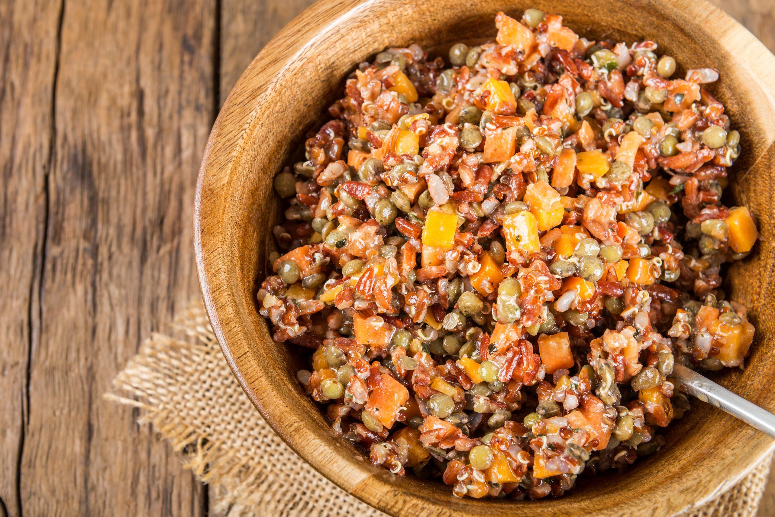 [RECIPE] Warm-roasted butternut squash and quinoa salad with radicchio