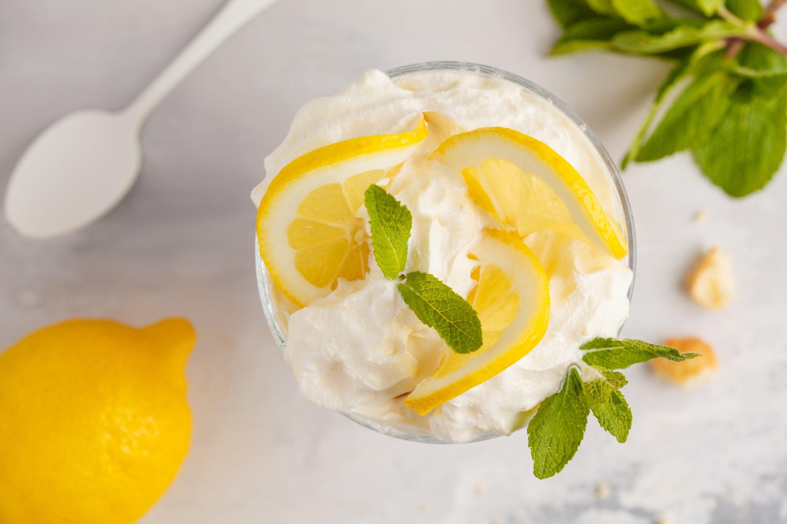 Delicious Tart Lemony Parfait with Whipped Cream Recipe